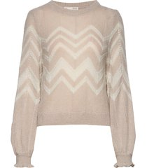 magnetic striped sweater gebreide trui beige odd molly