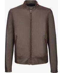 café racer biker jacket brown 56