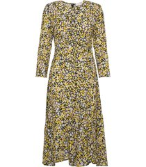 pauline jurk knielengte geel fall winter spring summer