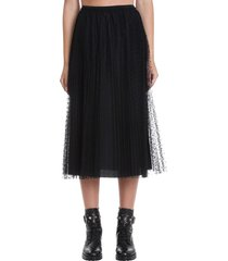 red valentino skirt in black polyamide