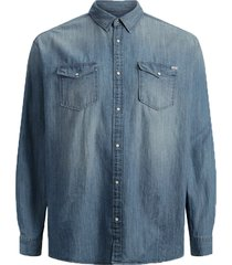 jack & jones overhemd - modern fit - blauw