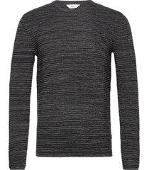 6182740, knit - sdstruan stickad tröja m. rund krage grå solid