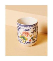 vaso fuji de cerâmica cilíndrico cor: colorido - tamanho: único