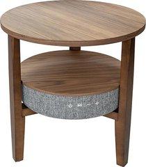mesa lateral wi-fi 2 dark wood/smart - 61x55x26