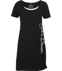 abito in maglina stampato a manica corta (nero) - john baner jeanswear