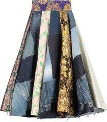 dolce & gabbana jacquard motif skirt
