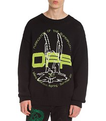 harry the bunny knit crewneck sweater