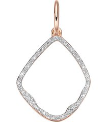 monica vinader riva diamond hoop pendant charm in rose gold at nordstrom