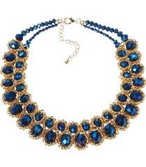 l'oro di cristallo variopinto delle donne di lusso ha esagerato il regalo della collana della bacchetta
