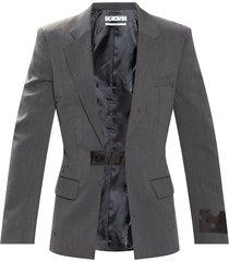 blazer with logo
