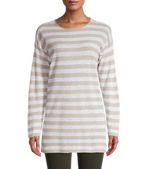 eileen fisher women's striped tunic - natural white - size s