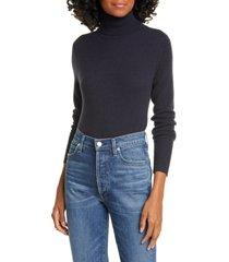 women's equipment delafine cashmere turtleneck sweater, size large - black