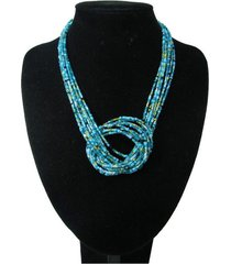 collar artesanal azul sasmon cl-12324