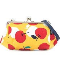 familiar cherry-print purse - yellow