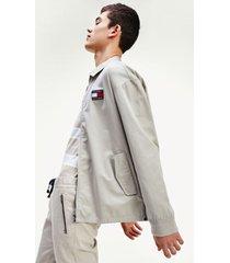chaqueta informal de algodón gris tommy jeans