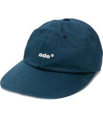 ader error embroidered logo cap - blue