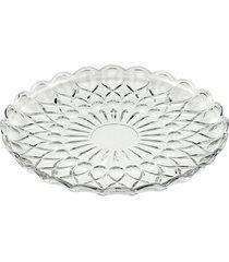 conjunto de 6 pratos de cristal de sobremesa angel 20cm