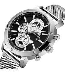reloj mini focus mf0190g-4 para hombre-plata