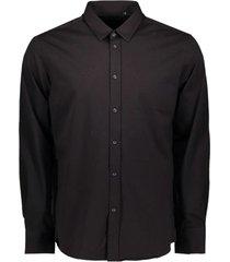 antony morato shirt on jersey fabric black 9000