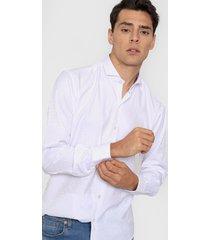 camisa blanca new astor jacquard slim fit