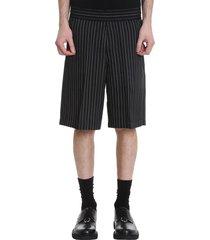 neil barrett shorts in black viscose