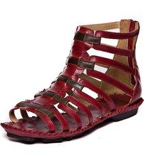 sandalia gladiadora rasteira - amora / chocolate 5437