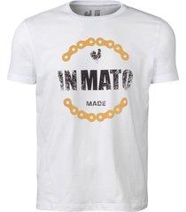 camiseta estampada made in mato corrente branco multicolorido