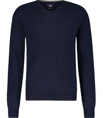 state of art pullover donkerblauw v-hals