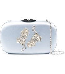 giambattista valli pisces crystal and beaded embellished clutch - blue