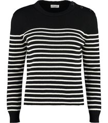 saint laurent cotton and wool blend sweater