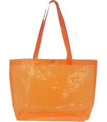 cartera naranja nuevas historias  plástico transparente flúo k1775-33f