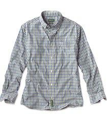 beacon stretch plain weave long-sleeved shirt, blue green, xx large