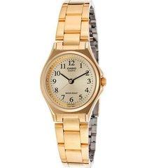 reloj casio ltp_1130n_9br dorado acero inoxidable