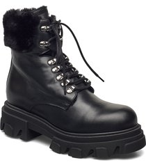 chuncky ski shoes boots ankle boots ankle boot - flat svart apair