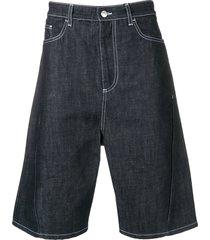 kenzo denim flared shorts - blue