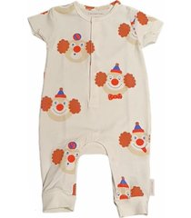 cotton jumpsuit with clown pattern