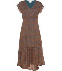 leyla dress maxiklänning festklänning brun minus