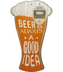 abridor kasa ideia de garrafa de parede chopp beer is always... amarelo