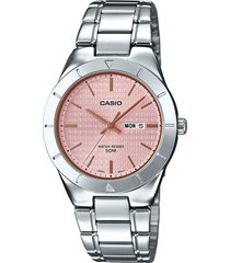 reloj casio ltp-1410d-4a2 analogo 100% original-rosado
