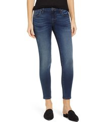 women's kut from the koth donna ankle skinny jeans, size 00 - blue