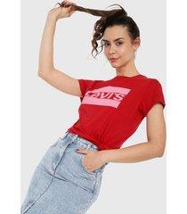 camiseta rojo-rosa levis