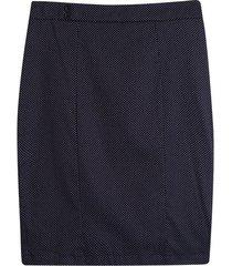 falda tubo puntos color negro, talla 14