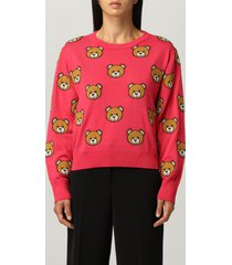 moschino couture sweater moschino couture sweater in virgin wool with all-over teddy