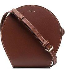 a.p.c. myla satchel bag - brown