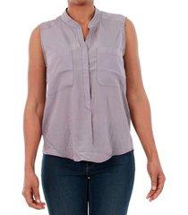 overhemd vero moda 10192814 vmerika mix s/l shirt nfs gray ridge