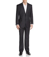 regular-fit solid wool suit
