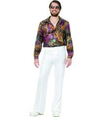buyseasons men's multi flame disco shirt plus adult costume