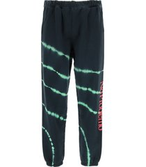 aries tie-dye sweatpants no problemo neon print