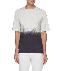 'casey' gradient effect bicolour cotton t-shirt