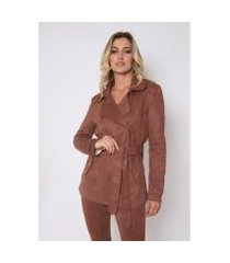 trench coat the style box c/ amarração feminino